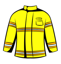 Firefighter jacket icon icon cartoon vector