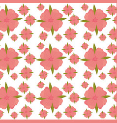 flower leaves seamless pattern design vector image