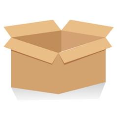 Recycle brown box packaging vector