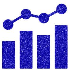Stats charts icon grunge watermark vector