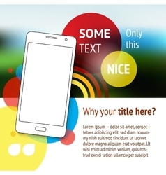 Website or page design with mobile phone vector