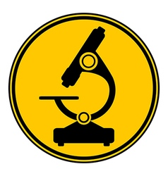 Microscope button vector