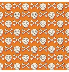 Happy halloween hand drawn seamless pattern with vector