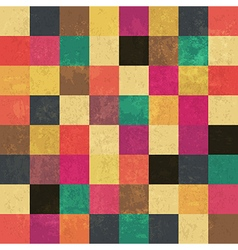 Aged color squares pattern seamless vector