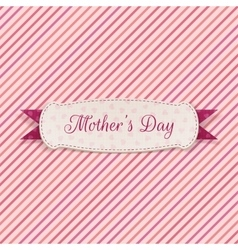 Mothers day paper label vector