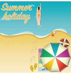 Summer holiday vacation background vector