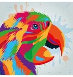 Parrot bird icon animal and art design vector