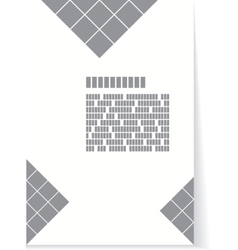 White and gray background for brochure or cover vector