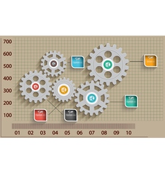 Abstract design template background with gear vector