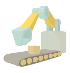 Big excavator icon cartoon style vector