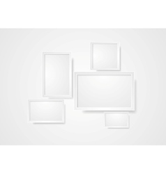 Blank grey frame abstract background vector