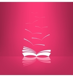 book icon with seagulls made in glassy vector image vector image