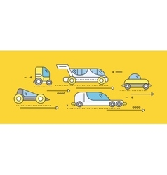 Concept car of the future road transport vector