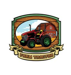 farm tractor vector image vector image