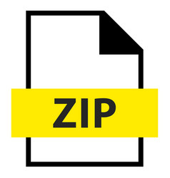File name extension zip type vector