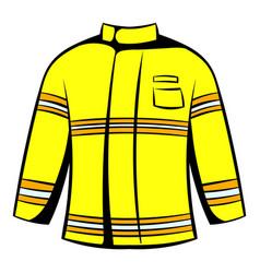 firefighter jacket icon icon cartoon vector image