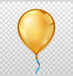 Gold balloon vector
