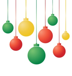 Gradient Christmas Balls vector image vector image