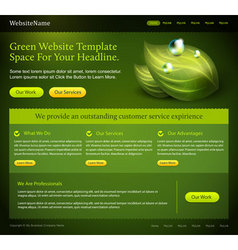 green website template vector image vector image