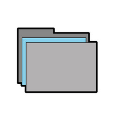 Grey and blue folder cartoon vector