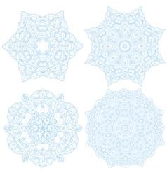 Hand-drawn christmas lace frame mandala vector image vector image