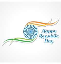 Happy Republic Day banner vector image vector image