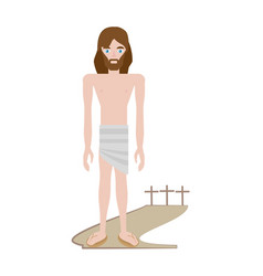 jesus christ stripped robes - via crucis vector image vector image