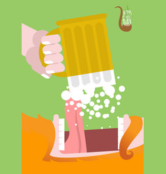 leprechaun drinking beer happy patricks day scary vector image vector image