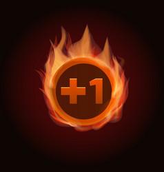 Level up game bonus icon vector