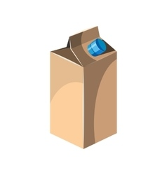 Milk packet icon cartoon style vector image