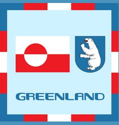 Official government ensigns of greenland vector