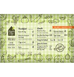 Organic food vegan restaurant menu vector