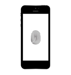 Phone finger scanner Eps10 vector image