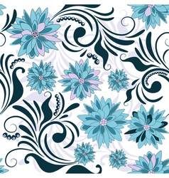 repeating floral pattern vector image
