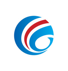 Round sphere globe communication logo vector