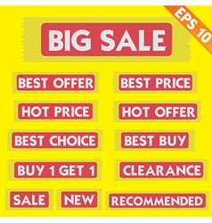Sale tag - - EPS10 vector image vector image