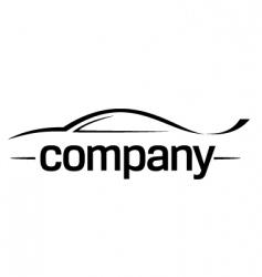 Sport car silhouette logo vector