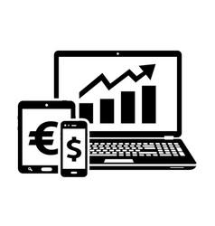 Stock exchange icons exchange trades vector