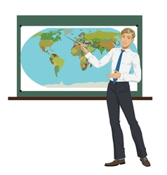 Teacher of geography vector