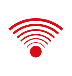 Wifi internet signal connection icon vector