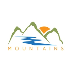Simple of the abstract mountains and river vector