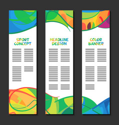 Colorful abstract template design brochure poster vector