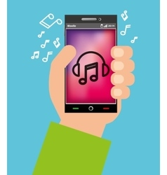 Hand human user music player vector
