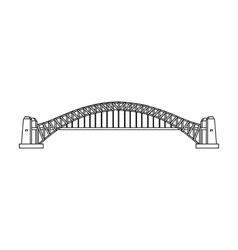 Sydney harbour bridge icon in outline style vector