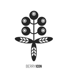 Flat black icon silhouette berry and fruit vector