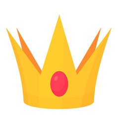 golden crown toy icon cartoon style vector image