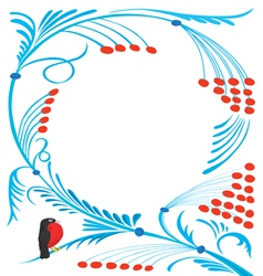 New years abstract pattern with a bird vector