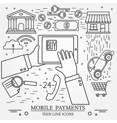 Mobile payments using a tablet computer tablet pc vector