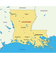Louisiana - map vector