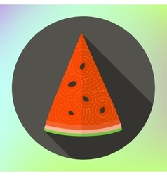 Flat icon sliced watermelon vector